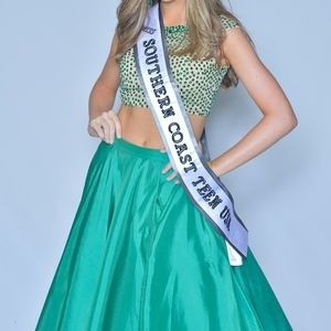 Emerald Green Two Piece Gown